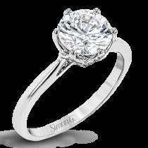 18K GOLD WHITE LR2143 ENGAGEMENT RING