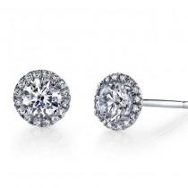 18k White Gold Orstar Diamond Studs