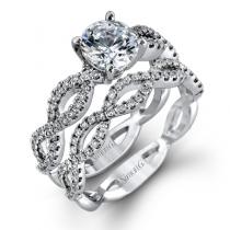 18K WHITE GOLD, WITH WHITE DIAMONDS. MR1596 - WEDDING SET