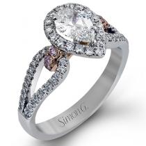 18K WHITE & ROSE GOLD, WITH WHITE & ROSE DIAMONDS. NR467 - ENGAGEMENT RING