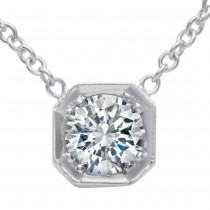 Antique Style Diamond Pendant with Chain