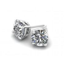 14K White Gold Diamond Studs .10 carat