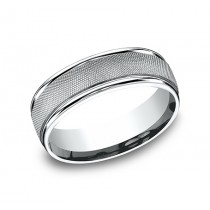 BENCHMARK Mens Palladium Wedding Band RECF77470PD