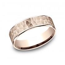 BENCHMARK Mens 14k Rose Gold Wedding Band CFT186576314KR