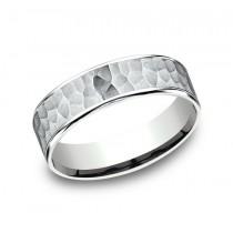 BENCHMARK Mens 14k White Gold Wedding Band CFT186576314KW