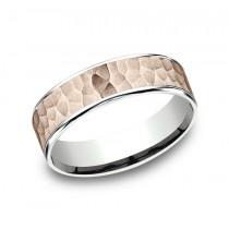 BENCHMARK Mens 14k Rose Gold Wedding Band CFT226576314KRW