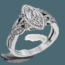 18K GOLD WHITE TR629-MQ ENGAGEMENT RING