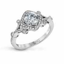 18K WHITE GOLD, WITH WHITE DIAMONDS. TR656 - ENGAGEMENT RING