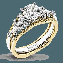 18K YELLOW & WHITE GOLD, WITH YELLOW & WHITE DIAMONDS. TR777 - WEDDING SET