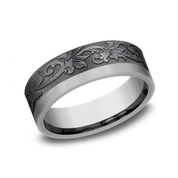 BENCHMARK Mens Tantalum Wedding Band 025TA7391GTA