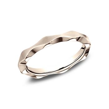 BENCHMARK Ladies 14k Rose Gold Wedding Band 625684R