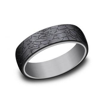 FORGE Mens Tantalum Wedding Band RIRCF1265374BKTGTA