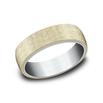 BENCHMARK Mens Two-Tone Wedding Band RIRCF8165070