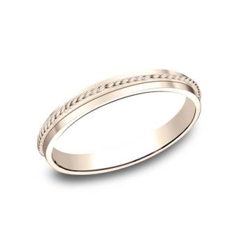 BENCHMARK Ladies Rose Gold Wedding Band 72015R