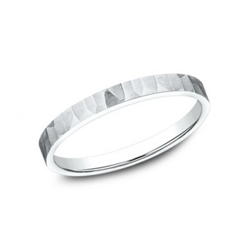 BENCHMARK Ladies White Gold Wedding Band 62763W