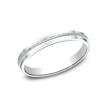 BENCHMARK Ladies White Gold Wedding Band 72013W