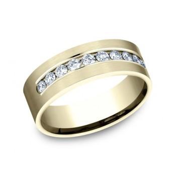 BENCHMARK Mens 14k Yellow Gold Wedding Band CF528530Y