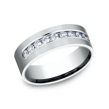 BENCHMARK Mens 14k White Gold Wedding Band CF528530W