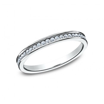 BENCHMARK Ladies 14k White Gold Wedding Band 512514W