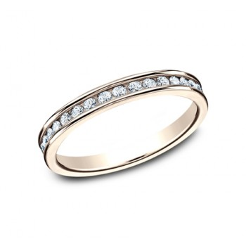 BENCHMARK Ladies 14k Rose Gold Wedding Band 513523R