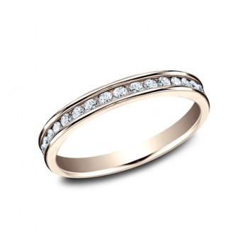 BENCHMARK Ladies 14k Rose Gold Wedding Band 513523LGR