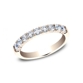 BENCHMARK Ladies Rose Gold Wedding Band 593277LGR