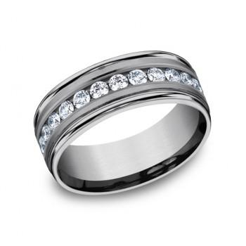 FORGE Mens Tantalum Wedding Band RECF518516LGGTA