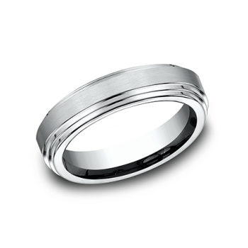 BENCHMARK Mens Platinum Wedding Band CF66100PT