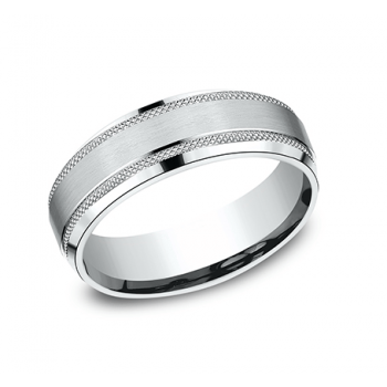 BENCHMARK Mens Platinum Wedding Band CF665321PT