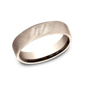 BENCHMARK Mens Rose Gold Wedding Band CF755044R
