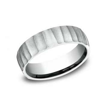 BENCHMARK Mens Platinum Wedding Band CF765617PT