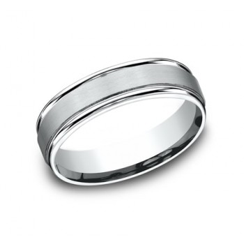 BENCHMARK Mens Platinum Wedding Band RECF7602SPT