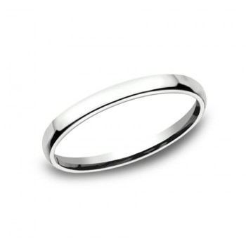 CLASSIC Mens 14k White Gold Wedding Band EUCF125W