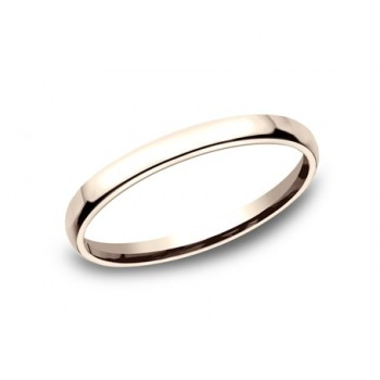 CLASSIC Mens 14k Rose Gold Wedding Band EUCF125R