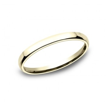 CLASSIC Mens 14k Yellow Gold Wedding Band EUCF125Y