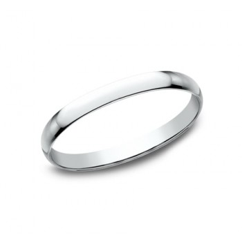 CLASSIC Mens 14k White Gold Wedding Band 112W