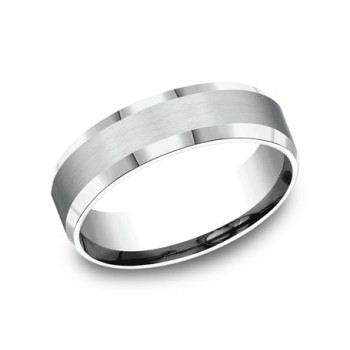 BENCHMARK Mens Platinum Wedding Band CF66416PT