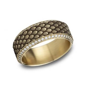 BENCHMARK Mens 14k Yellow Gold Wedding Band CFBP889857Y