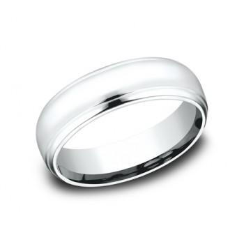BENCHMARK Mens White Gold Wedding Band CF716540W