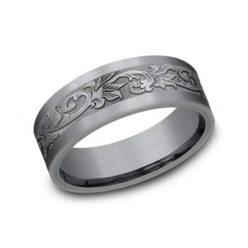 FORGE Mens Tantalum Wedding Band CFS847391GTA