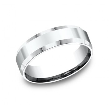 BENCHMARK Mens Platinum Wedding Band CF66426PT