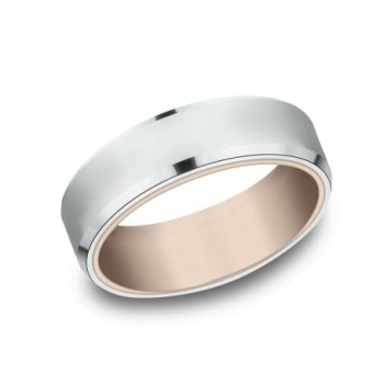 BENCHMARK Mens Two-Tone Wedding Band RIRCF8265335RW