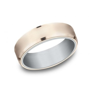 BENCHMARK Mens Two-Tone Wedding Band RIRCF8365335RW