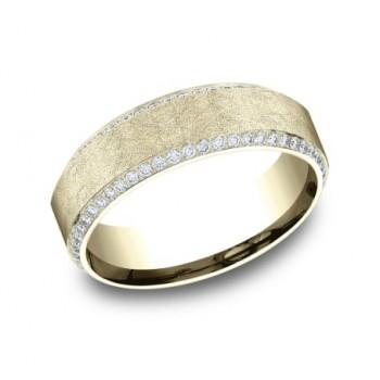 BENCHMARK Mens Yellow Gold Wedding Band CF887070Y