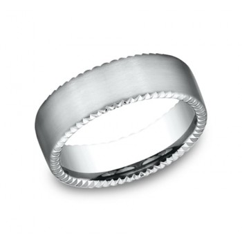 BENCHMARK Mens Platinum Wedding Band CF717525PT