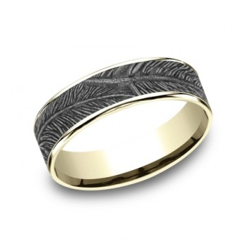 BENCHMARK Mens Two-Tone Wedding Band CFT8065651WY