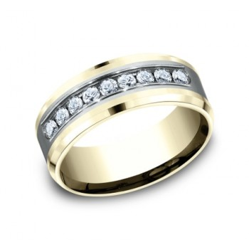 BENCHMARK Mens Two-Tone Wedding Band CF188010D