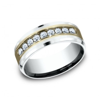 BENCHMARK Mens Two-Tone Wedding Band CF208010D