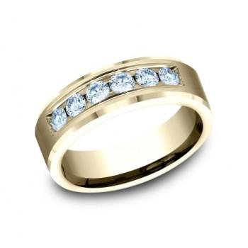 BENCHMARK Mens Yellow Gold Wedding Band CF527160Y