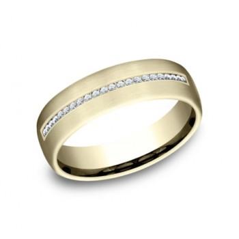 BENCHMARK Mens Yellow Gold Wedding Band CF716573Y